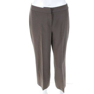 St. John Taupe/Gray Cropped Capri Business Casual Trousers sz 2